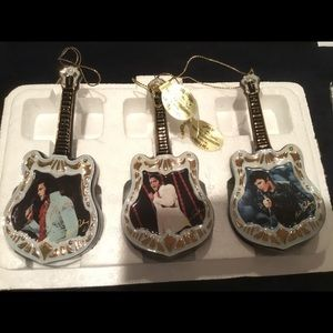 Porcelain Elvis Bradford exchange ornaments